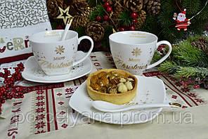 Набор чашек 280 мл Merry Christmas 6 пр фарфор