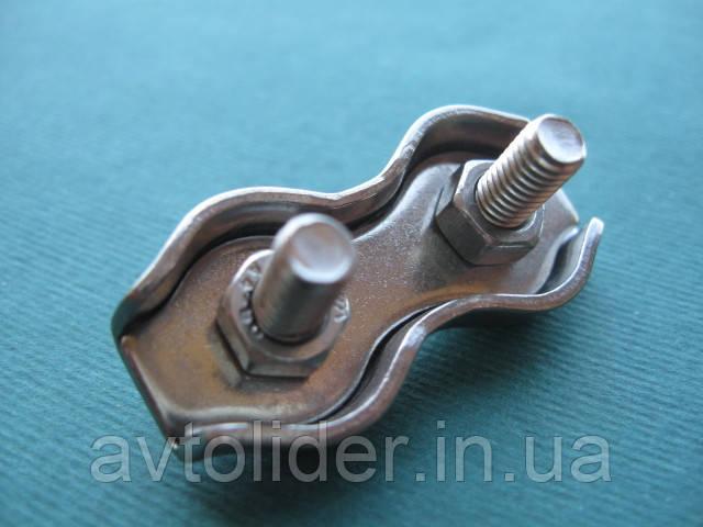 Нержавеющий двойной зажим для троса DUPLEX, А4(AISI 316). 10 mm