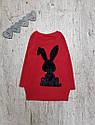 Детская теплая туника Зайка для девочки на 3-7 лет, фото 3