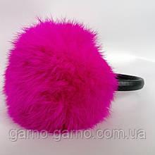 Наушники меховые Зимние кролик Ярко-Розовый Фуксия цвет