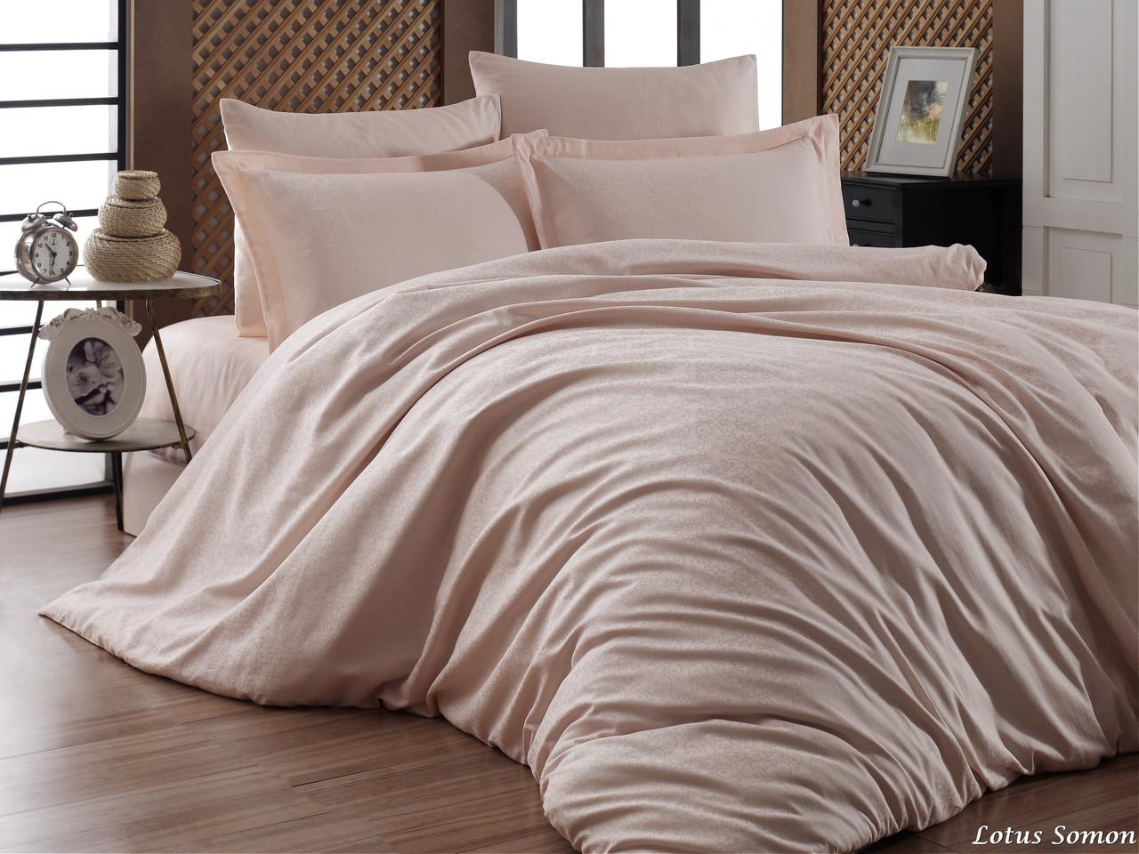 Комплект постельного белья First Choice Сатин Жаккард 200х220 Lotus Somon