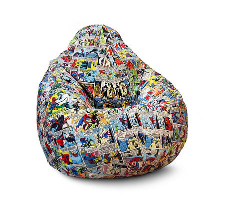 "Кресло мешок груша ""Человек паук комикс"" Флок, фото 2"