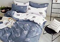 Комплект постельного белья Клубника  Бязь Ранфорс GOLD евро