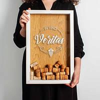 Копилка для винных пробок In vino veritas 45х29,5х5 см белая