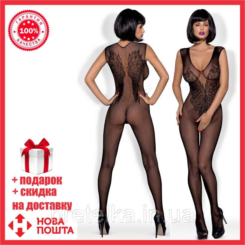 Боди-комбинезон эротический N112 Obsessive Польша цвет черный