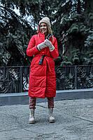 Женское зимнее пальто двухстороннее