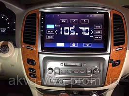 Штатная магнитола Toyota Land Cruiser 100 2005-2007на базе Android 8.1 Экран 10 дюймов Память 1/16 Гб