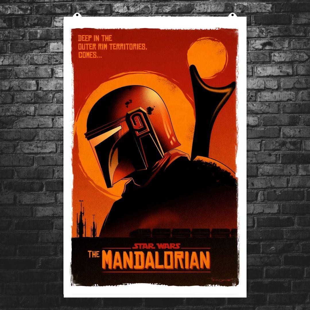 "Постер ""Мандалорец. Постер №9"". Mandalorian, Star Wars. Размер 60x40см (A2). Глянцевая бумага"