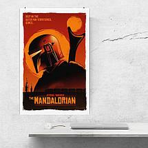"Постер ""Мандалорец. Постер №9"". Mandalorian, Star Wars. Размер 60x40см (A2). Глянцевая бумага, фото 3"