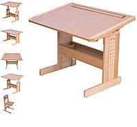 Парта школьнику и стул регулируемые Розумник детская домой