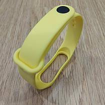 Ремешок для Фитнес-Трекера,  XIAOMI MI BAND 3 / 4 одноцветный - Yellow - Желтый, фото 3