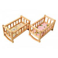 """Кукольная кроватка из дерева, Кровать для беби борна, Ліжко для ляльки дерев""""яне"""