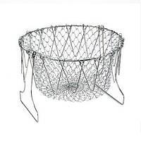 Дуршлаг Magic Kitchen Deluxe Chef Basket, складной дуршлаг фритюрница  доставка по Киеву и Украине
