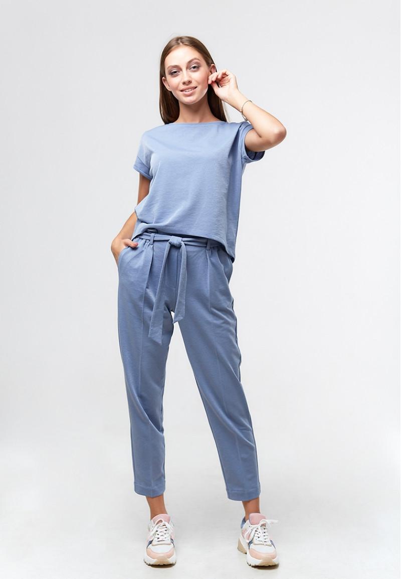 Женские брюки, ORA 20085/1 голубого цвета