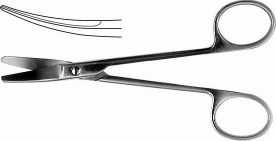 H-58 Ножницы хирургические вертикально-изогнутые 150 мм