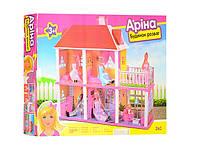 """Кукольный домик """"Арина"""" двухэтажный с мебелью 6980"""