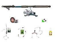 """Набір риболовний все в одному """"Донний спінінг"""" для ловлі білої риби, готовий до використання"""
