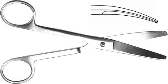 Н- 4 Ножницы тупоконечные вертикально-изогнутые 170мм