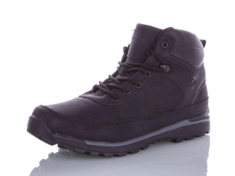 Ботинки мужские зимние Restime чёрные, нубук, размеры в наличии ► [ 42 43 44 45 46 ]