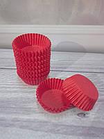 Бумажные формочки для конфет, кейк- попсов красные