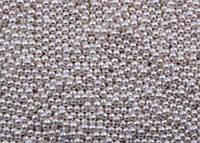 Посипка кругла срібна (d 3 мм) Італія