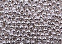 Посипка кругла срібна (d 5 мм) Італія