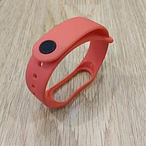Ремешок для Фитнес-Трекера,  XIAOMI MI BAND 3 / 4 одноцветный - Red - Красный, фото 3