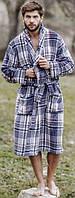 Мужской халат из флиса синий MGL 041 Key, M/L, фото 1