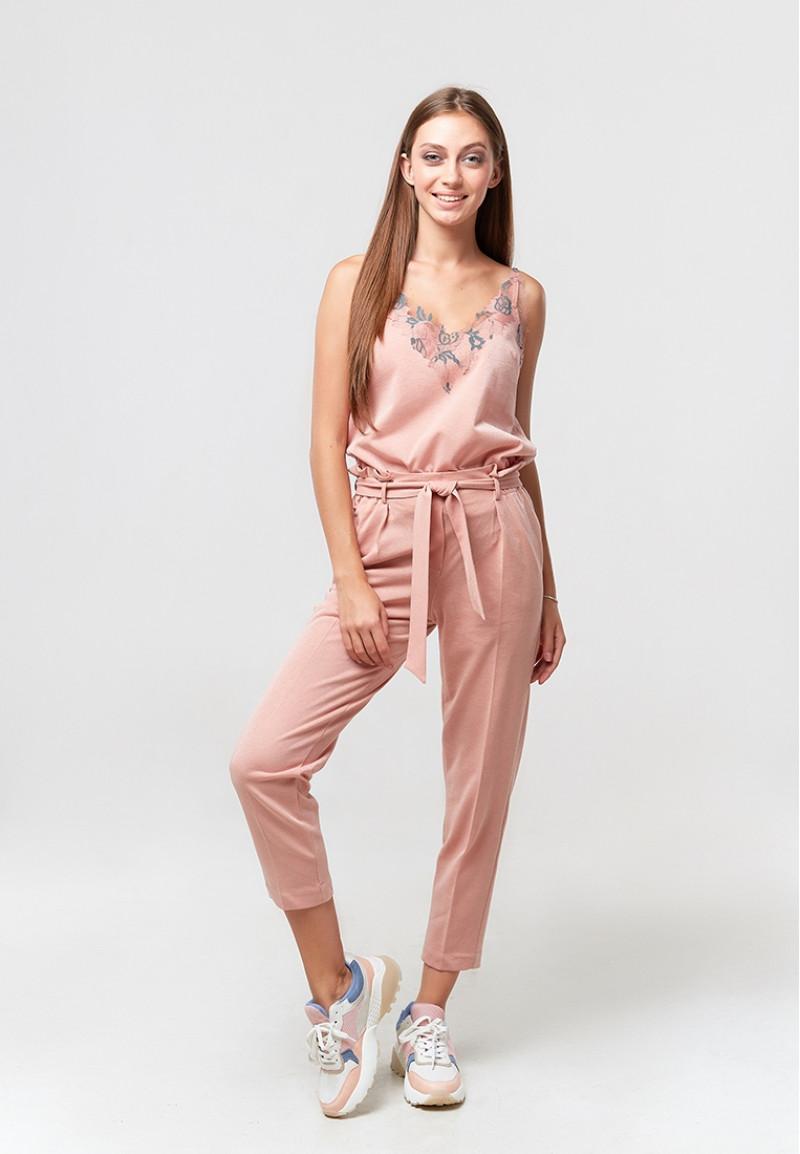 Женские брюки, ORA 20085/4 нежно-розового цвета