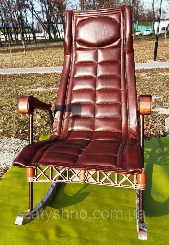 Кресло качалка ортопедическая  кожзам