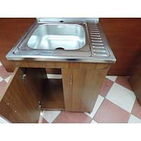Кухонна мийка з тумбою 60 х 60см Горіх