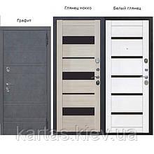 Входная дверь ЧАРЛСТОН 105 мм Графит/Глянец Мокко Царга