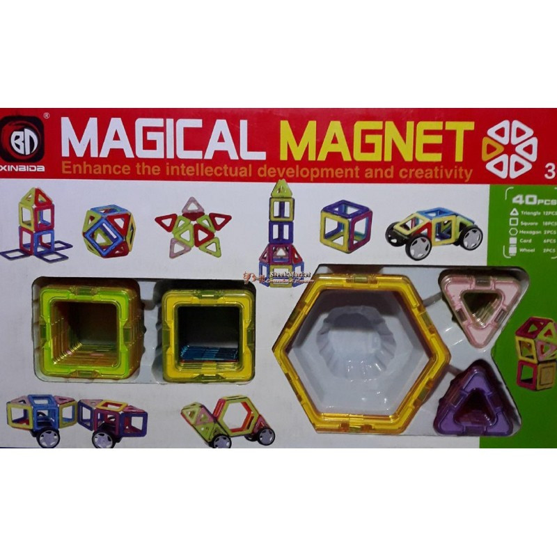 Конструктор магнитный 702 40 деталей