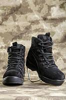 Ботинки Апачи нубук черные набивной мех