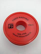 Фум-лента FADO для водопровода 19 x 0.25 мм x 15 м, FN11