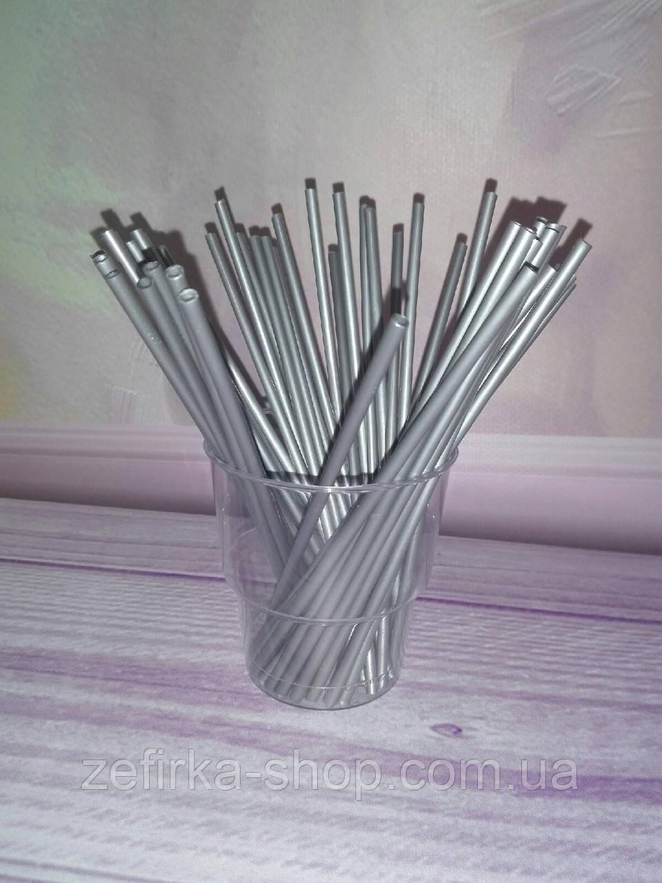 Палочки для кейк- попсов серебро, 15 см
