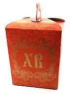 Коробка для Пасхи №1 (упаковка 3шт.) Красная, фото 1