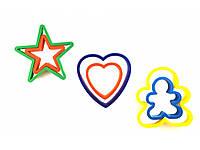 Набор вырубок сердце, человечек, звезда, фото 1