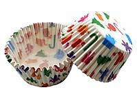 Тарталетки бумажные для кексов, маффинов Новогодние 500 шт.