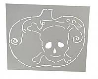 Трафарет для торта, пряників Гарбуз з черепом
