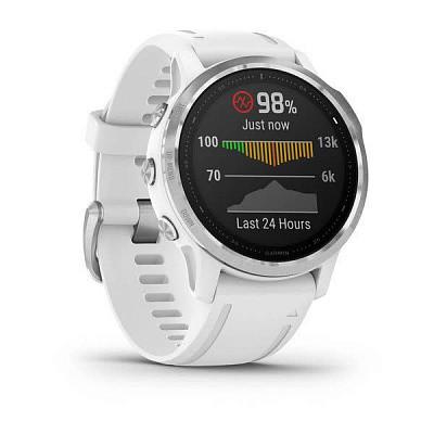 Смарт-годинник Garmin Fenix 6S White with White Band білий з білим ремінцем