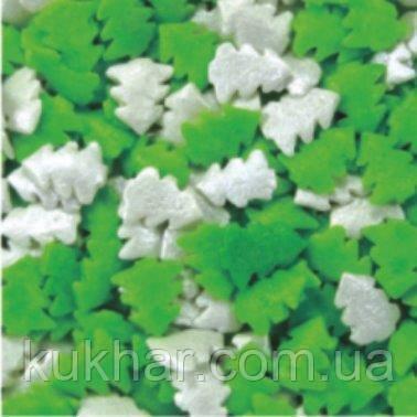 Посипка декоративна Зелено-білі ялинки