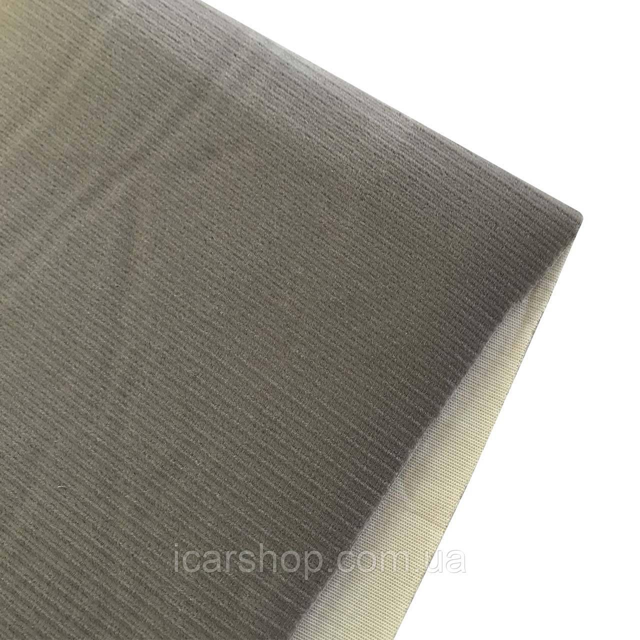 Ткань для центральной части сидения бежевая (под вельвет) на поролоне 2 мм (1.8 м)