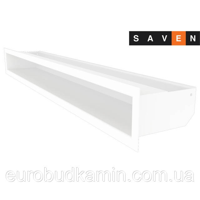 Вентиляційна решітка для каміна SAVEN Loft 90х800 біла