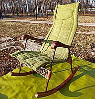 Кресло качалка ортопедическая цвет салатовый | складное кресло-качалка с лечебной функцией