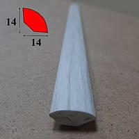 Штапик внутренний округлый из вспененного ПВХ 14 мм х 14 мм, 2,7 м Клён белый