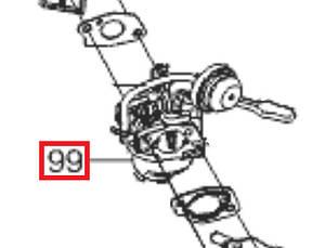 Карбюратор AL-KO 560, 560 II Snowline (413812)