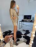 Женское платье-пайетка на запах с поясом (в расцветках), фото 7
