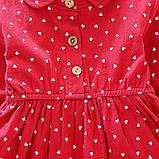 Хлопковое платье для девочки размер 86., фото 4