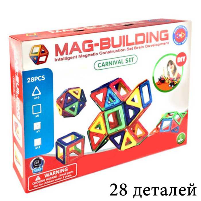 Детский магнитный конструктор Magical Magnet на 28 деталей